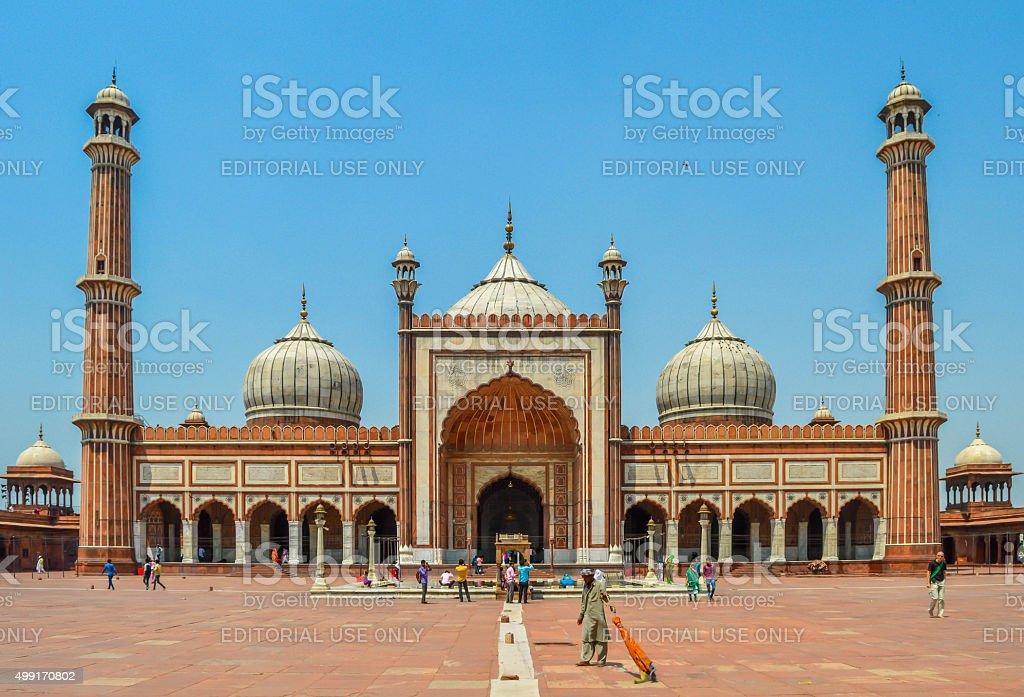 Jama Masjid Mosque in Delhi stock photo
