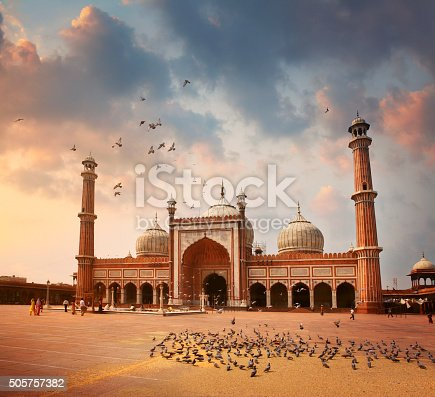 Jama Masjid Mosque in Delhi, India