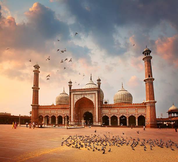 ジャーマーマスジッドモスクのデリー - 記念建造物 ストックフォトと画像
