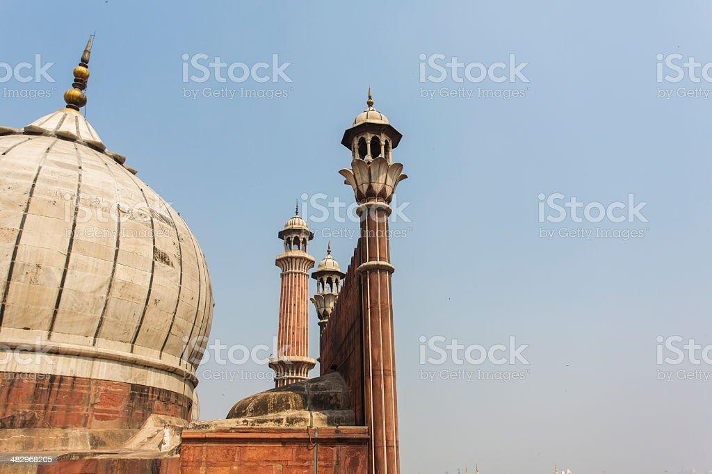 Jama Masjid Mosque Minaret royalty-free stock photo
