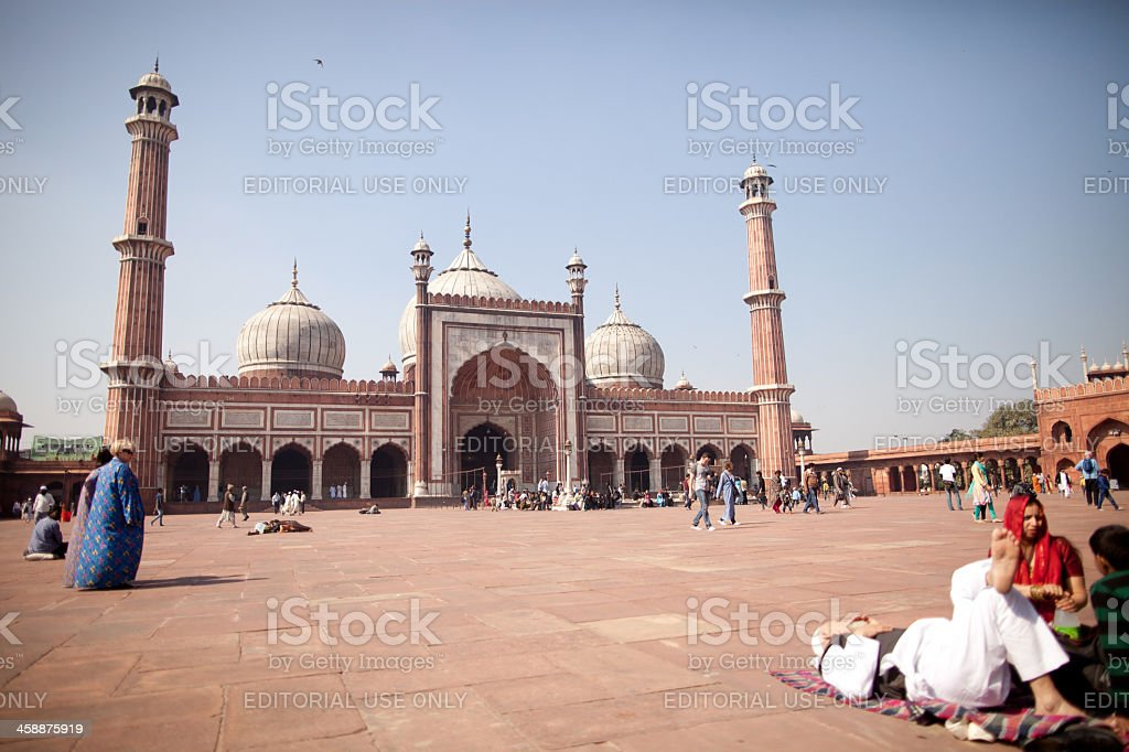 Jama Masjid, New Delhi, India royalty-free stock photo