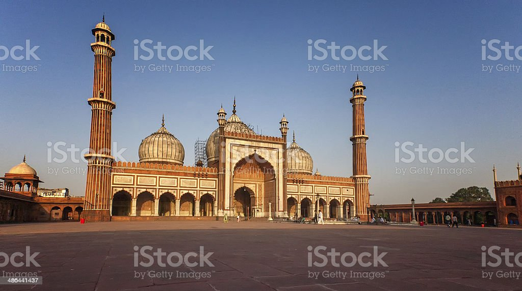 Jama Masjid, Old Delhi stock photo