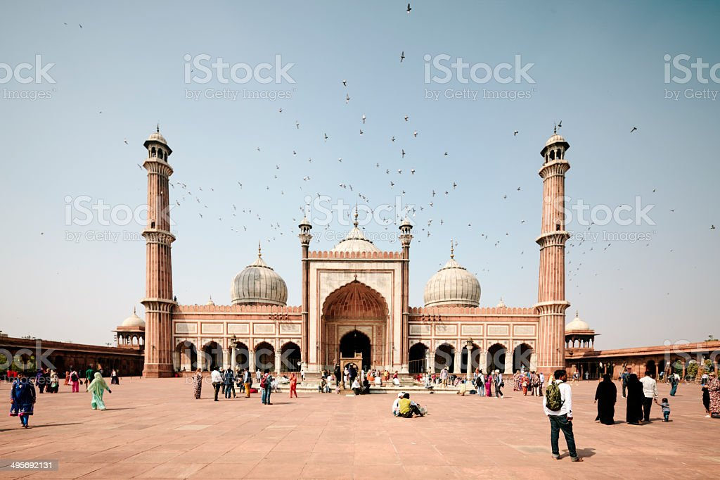 Jama Masjid, Old  Delhi stock photo