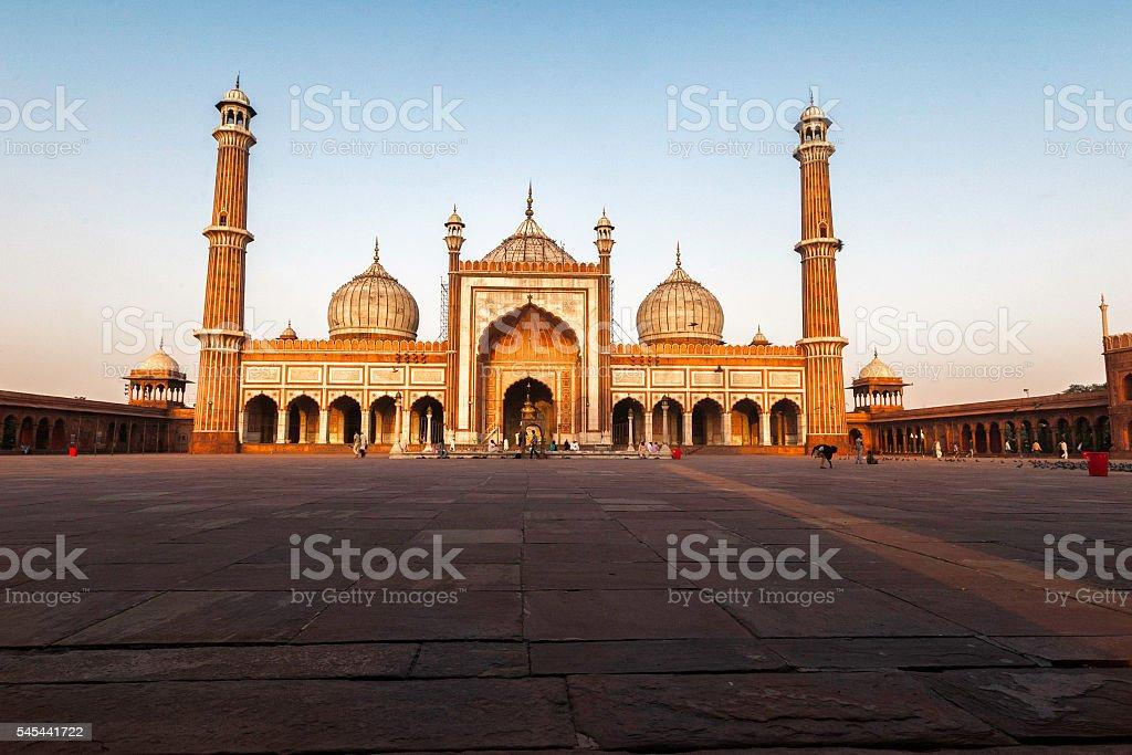 Jama Masjid,Old Delhi-India stock photo