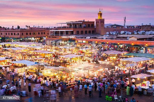 istock Jamaa el Fna in Marrakesh 477983522