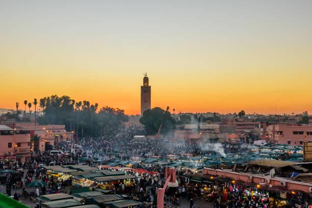 Jamaa el Fna Marktplatz. – Foto