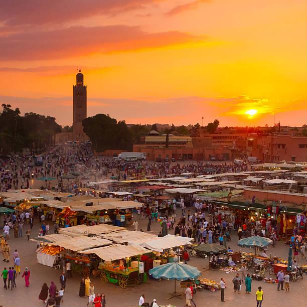 Jamaa el Fna, Marrakesch, Marokko. – Foto