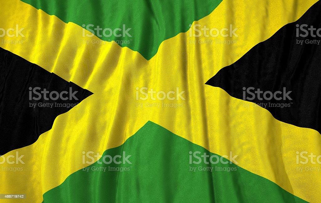 Ilustração 3d da bandeira Jamaica - foto de acervo