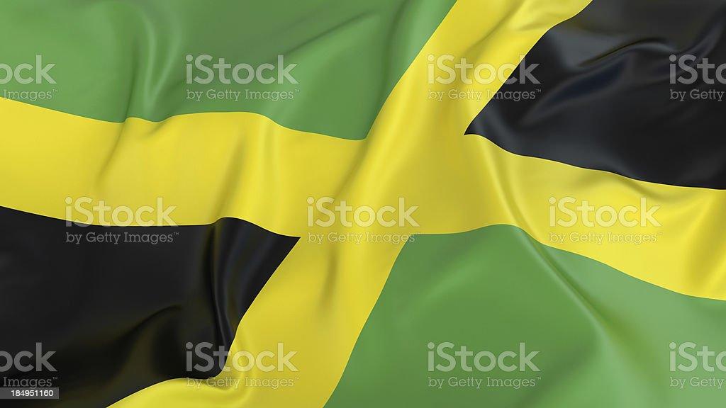 Jamaica Flag royalty-free stock photo