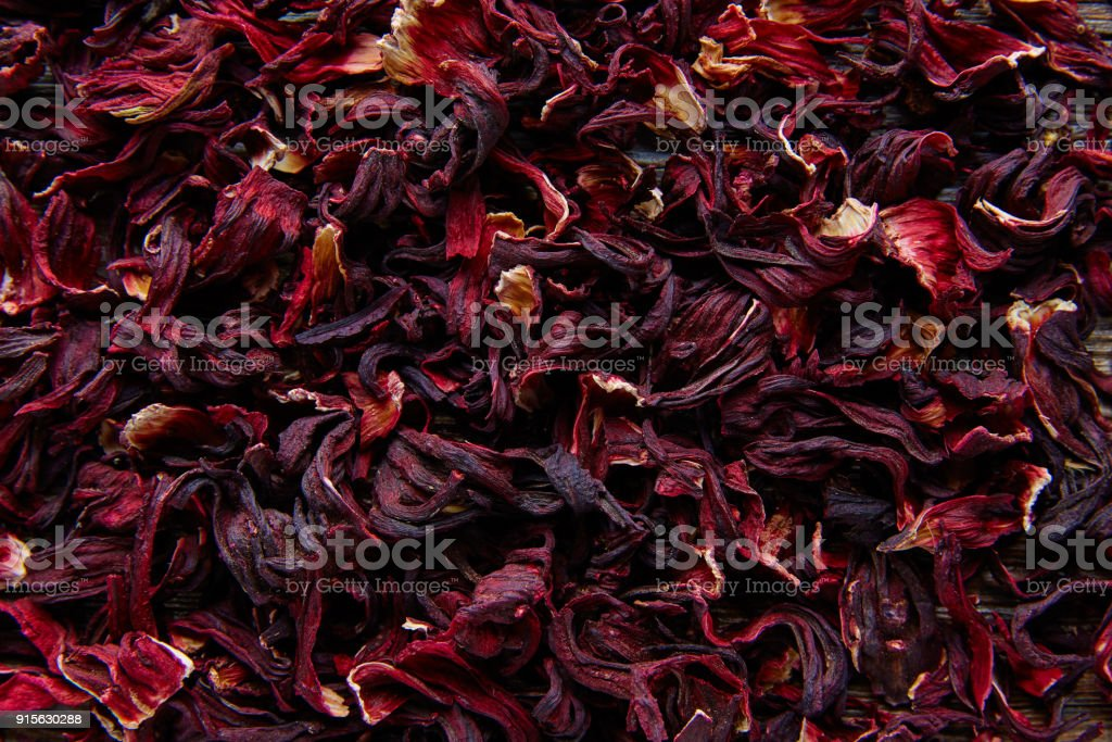 Jamaica flower for herbal iced tea from hibiscus stock photo