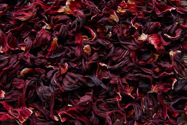 för växtbaserade iste från hibiscus blomma på jamaica - foderblad bildbanksfoton och bilder