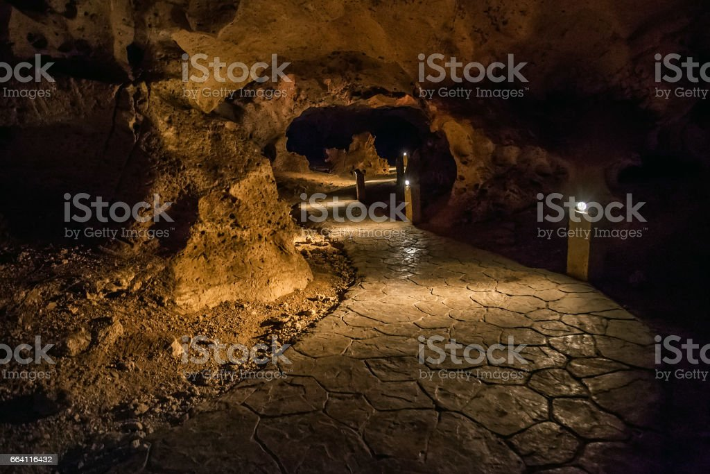 Jamaica green grotto caves stock photo