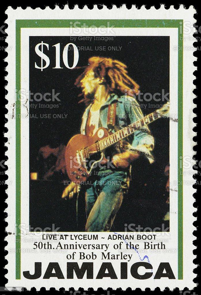 Jamaica Live at Lyceum Bob Marley postage stamp foto