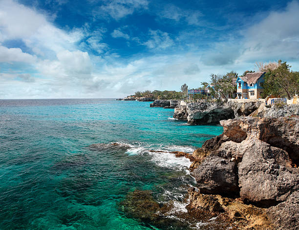 jamaican coast at negril - jamaica stock photos and pictures