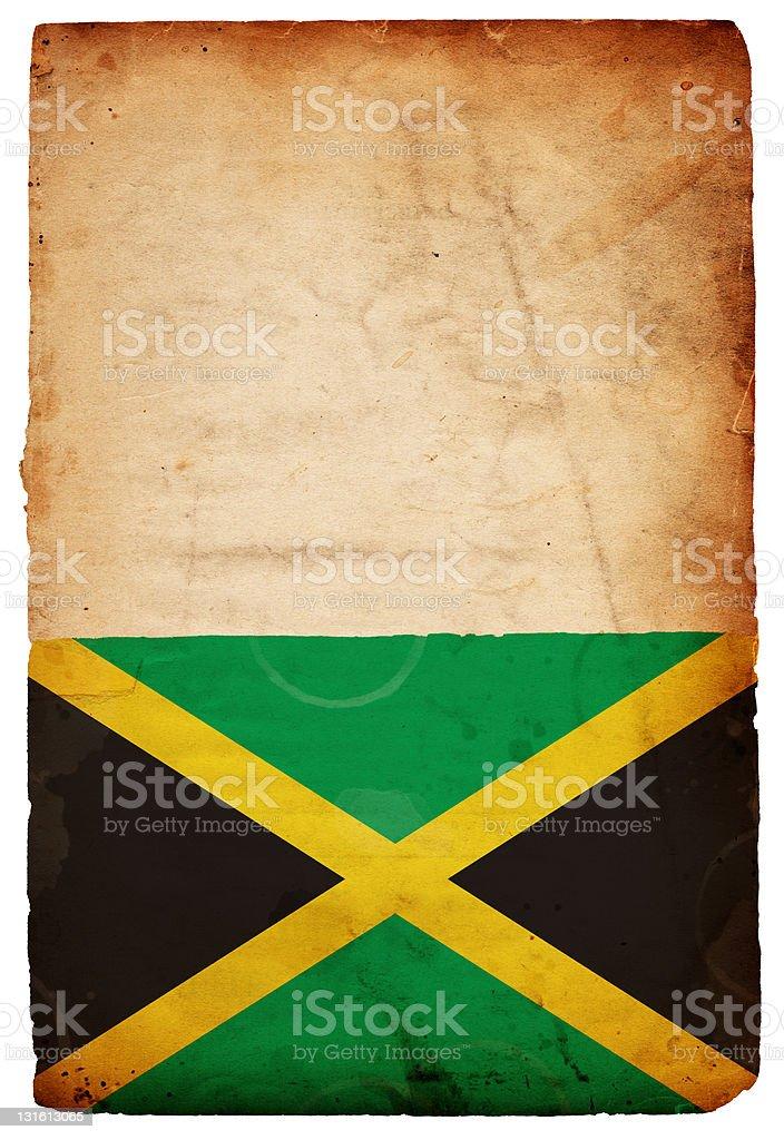 Bandeira Jamaicana XXXL de papel Grunge - foto de acervo