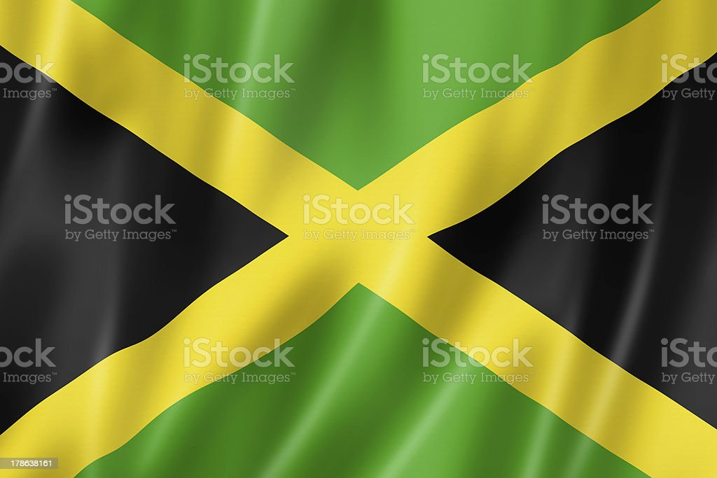 Jamaican flag stock photo