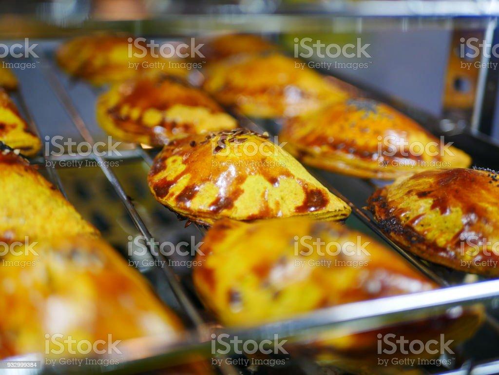 Jamaican food baked stock photo
