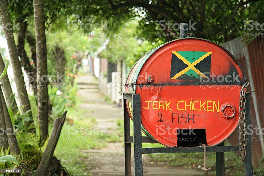 Jamaican food stock photo