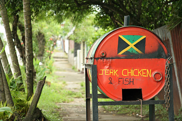 jamaican food - jamaica stock photos and pictures