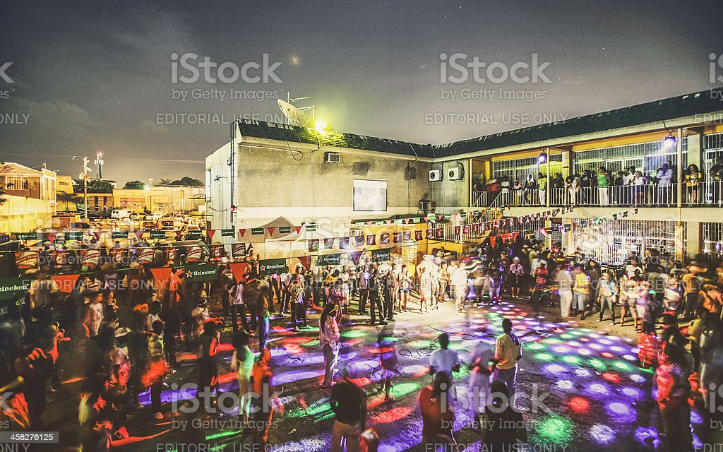 Jamaican party. stock photo