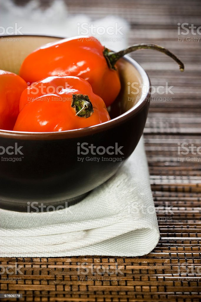 Jamaican peppers royalty-free stock photo