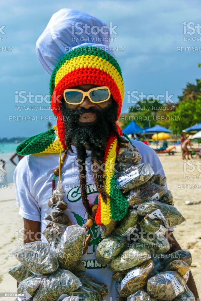 Jamaicaanse Rastafarian man foto