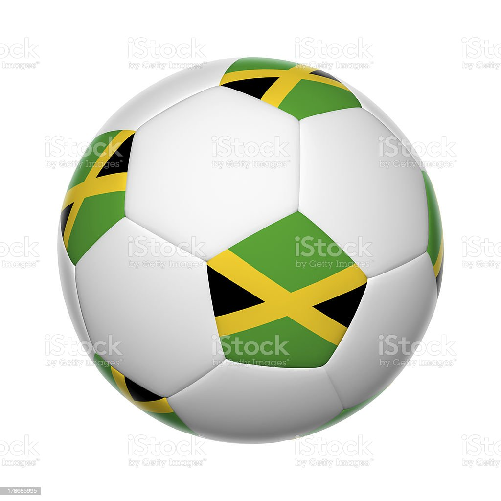 Jamaican soccer ball stock photo