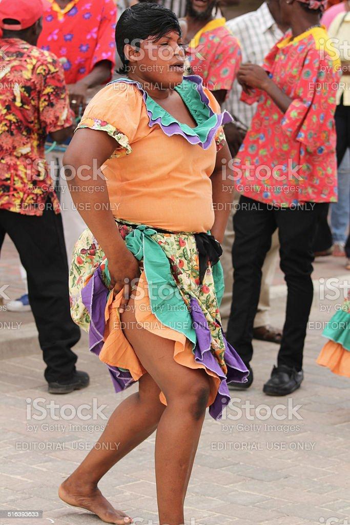 Jamaican Street Performer stock photo