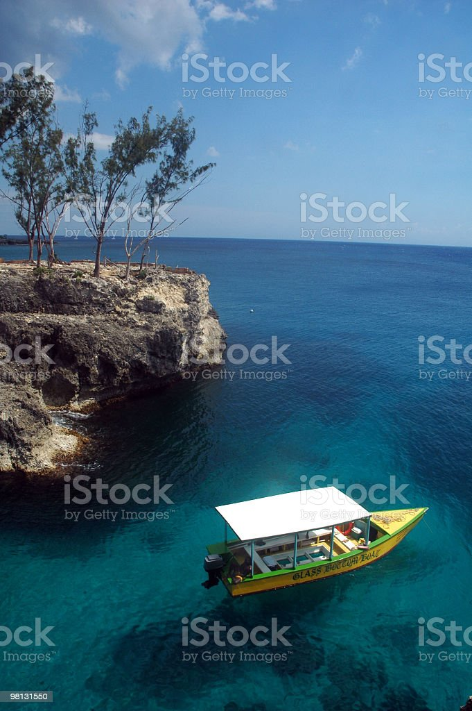Jamaican tour boat royalty-free stock photo