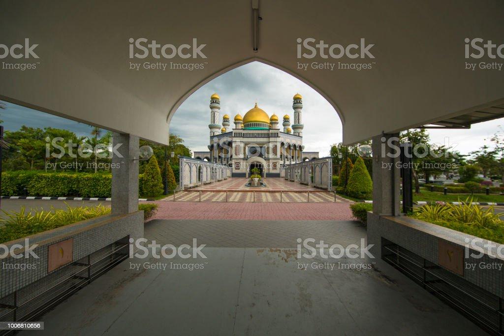 Jame'asr Hassanil Bolkiah Mosque in Bandar Seri Begawan, Brunei stock photo