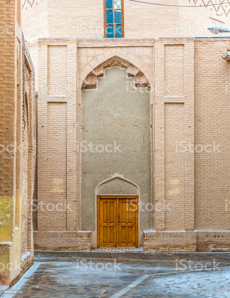 Jameh Mosque of Nain, the grand, congregational mosque of Nain city, within Isfahan Province of Iran. It is one of the oldest in Iran. Iran's Cultural Heritage Organization. stock photo