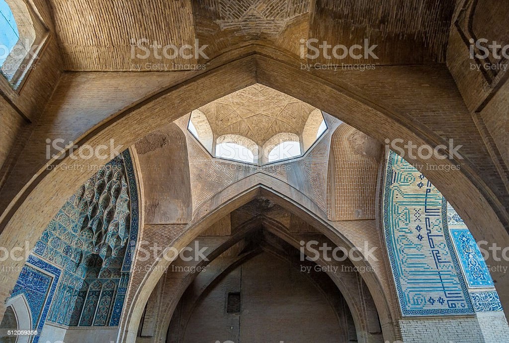 Jameh or Friday Mosque of Isfahan, Iran stock photo