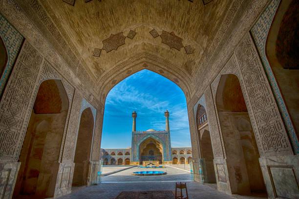 jameh oder freitag moschee von isfahan, iran - iranische stock-fotos und bilder