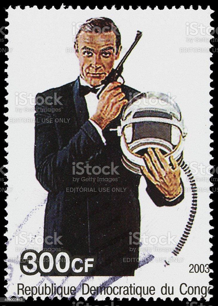 James Bond 007 Democratic Republic of Congo postage stamp royalty-free stock photo