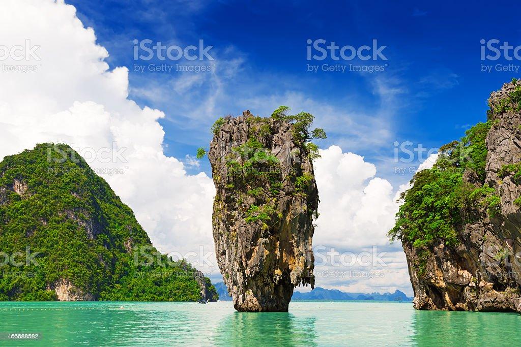 James Bond Island in Phang Nga, Thailand stock photo