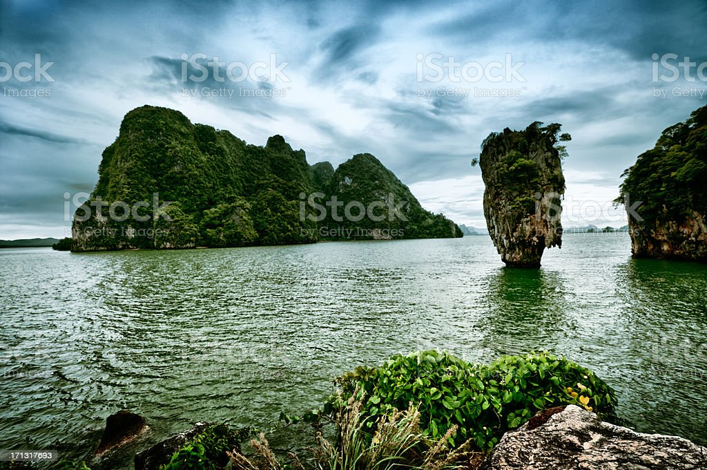 James Bond Island in Phuket, Thailand stock photo