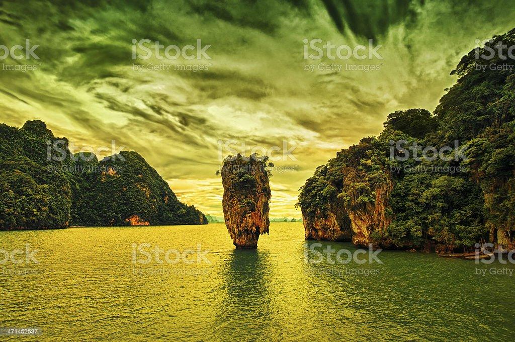 James Bond Island in Phuket, Thailand stock photo