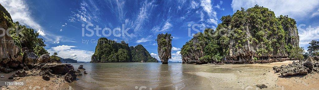 james bond island in thailand royalty-free stock photo