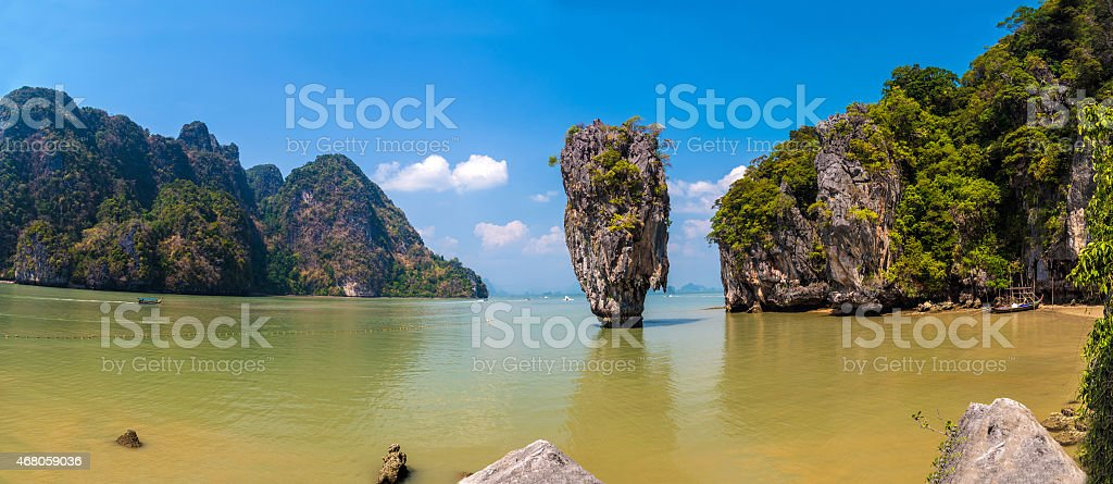 James Bond island panorama stock photo