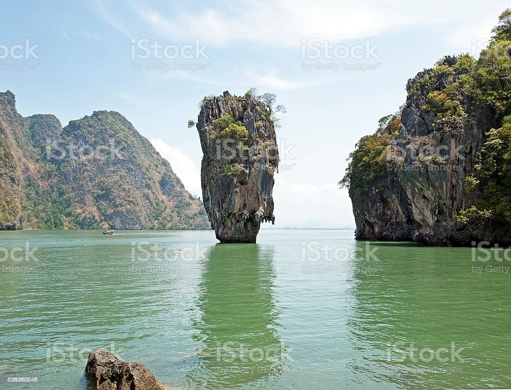James Bond island, Phang Nga Bay, Phuket, Thailand stock photo
