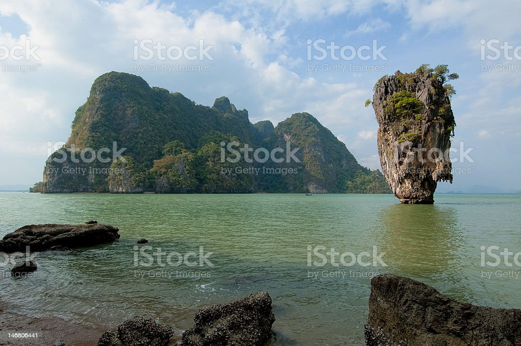 James Bond Island, Phang Nga, Thailand stock photo