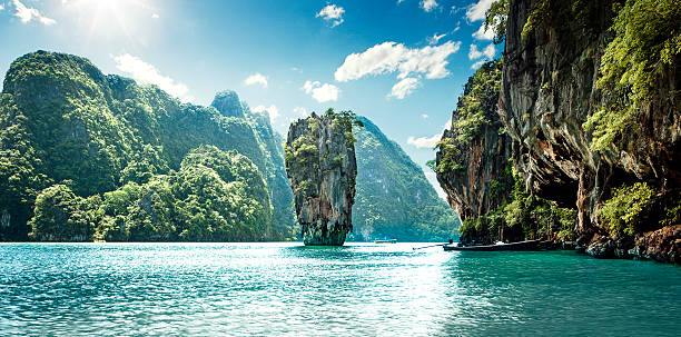 james bond island - phuket stock photos and pictures