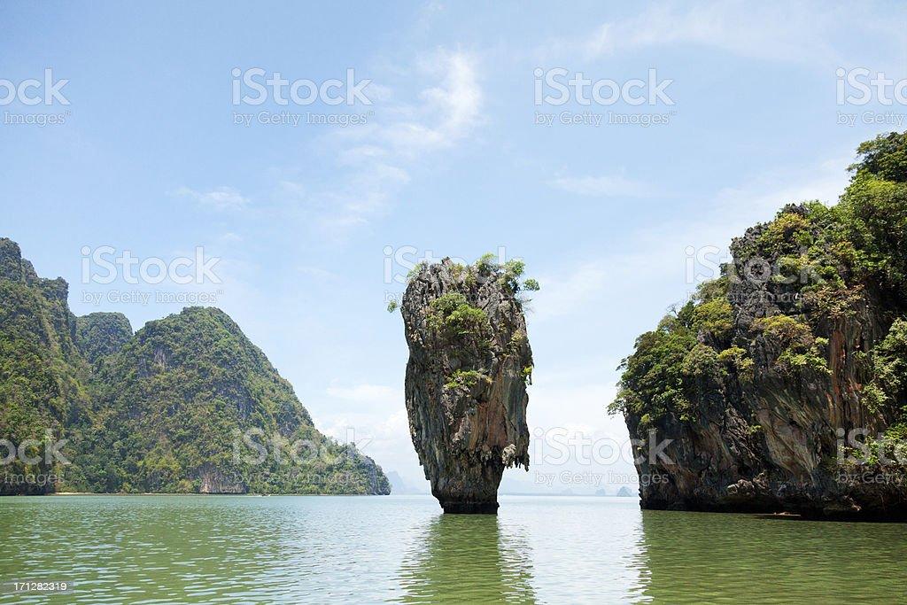 James Bond Island, Thailand stock photo