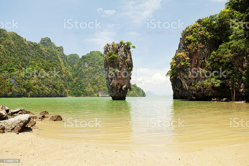 James Bond Island, Thailand stock photo