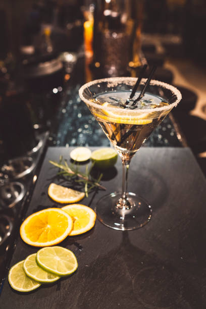 James Bond Vodka Martini, shaken not stirred stock photo