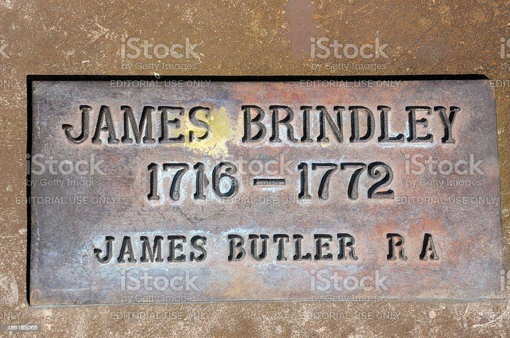 James Brindley Memorial Plaque, Coventry. stock photo