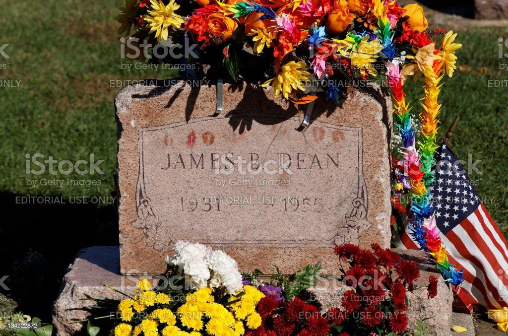 James Dean Grave Site stock photo