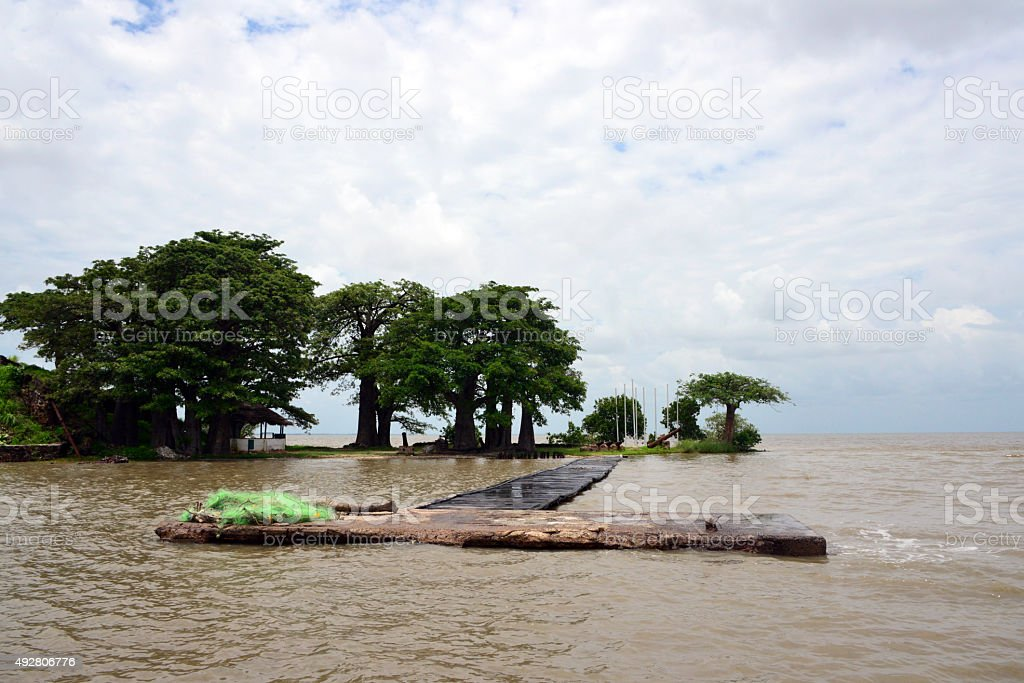 James Island / Kunta Kinteh island, Gambia stock photo
