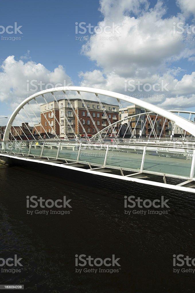 James Joyce Bridge Dublin stock photo