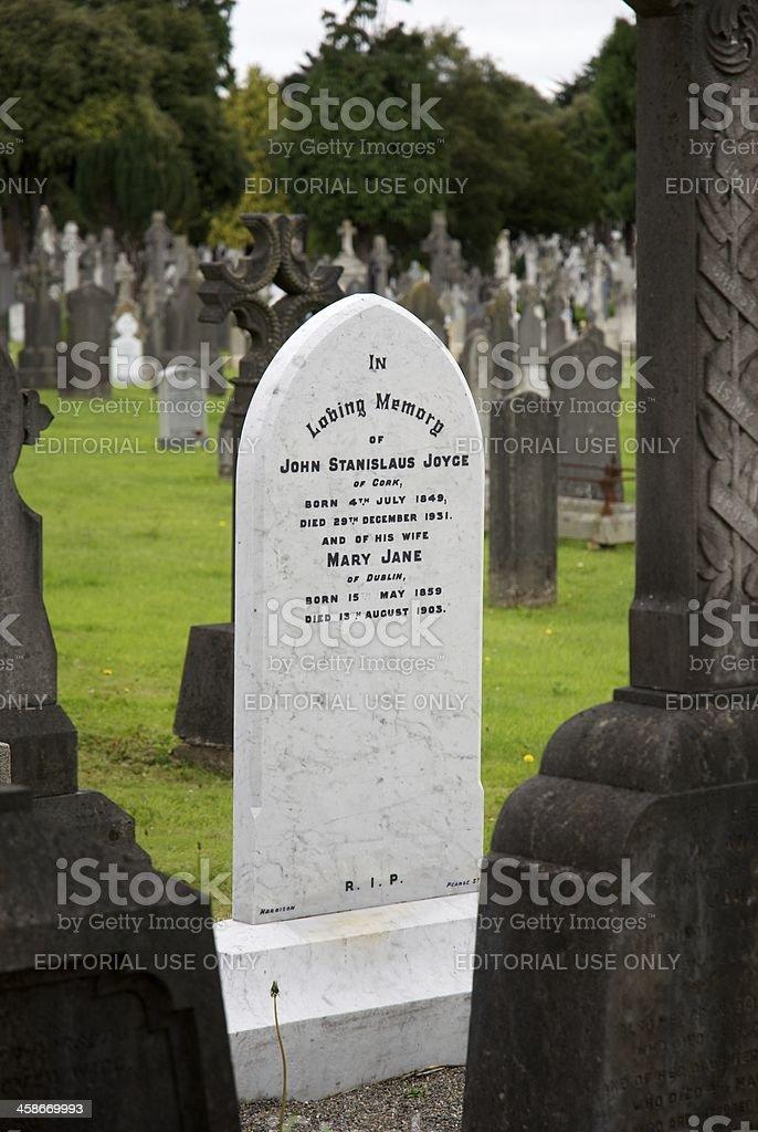 James Joyce Family Grave stock photo